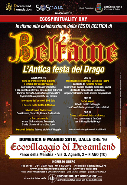 6 maggio 2018 dalle ore 16 - Festa celtica di Beltaine all'Ecovillaggio di Dreamland