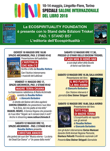 La Ecospirituality Foundation al Salone del Libro di Torino 2018