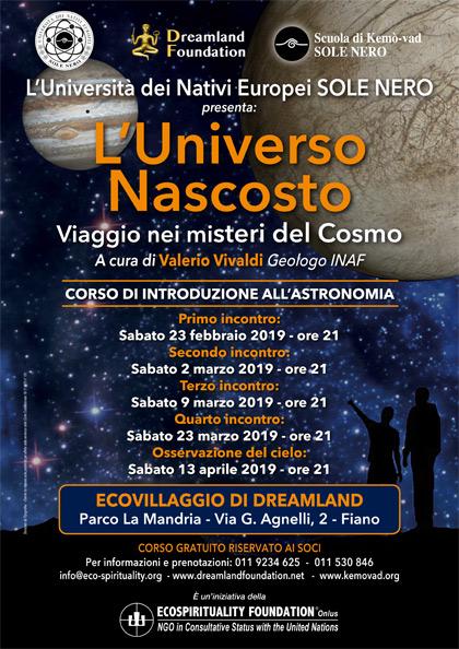 23 febbraio 2019 ore 21 - Ecovillaggio di Dreamland - Corso di introduzione all'Astronomia