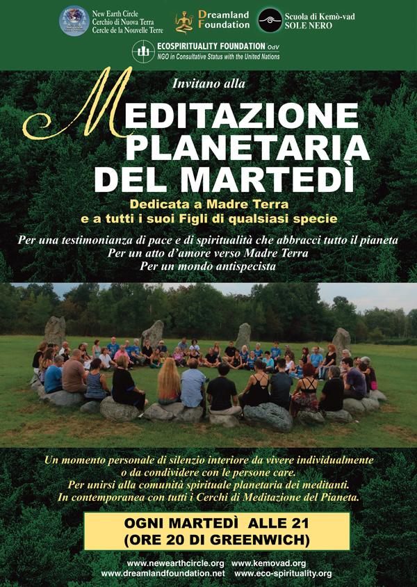 Meditazione planetaria del martedì - Ogni martedì, a partire dal 10 marzo 2020, alle 21