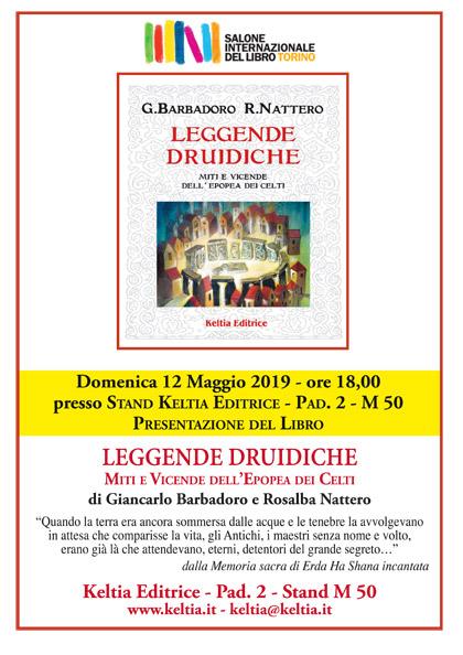 12 maggio 2019 ore 18 - Salone del libro di torino 2019 - Presentazione del libro Leggende Druidiche