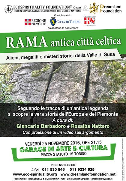 Conferenza: Rama antica città celtica - 25 Novembre 2016 ore 21.15 - Garage di Arte & Cultura