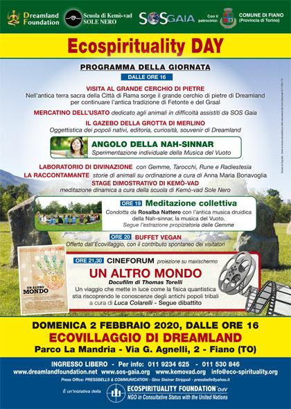 2 febbraio 2020 ore 16 - Ecovillaggio di Dreamland - Ecospirituality Day: Cineforum Un Altro Mondo