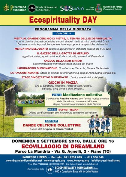 2 settembre 2018 ore 16 - Ecovillaggio di Dreamland - Ecospirituality Day