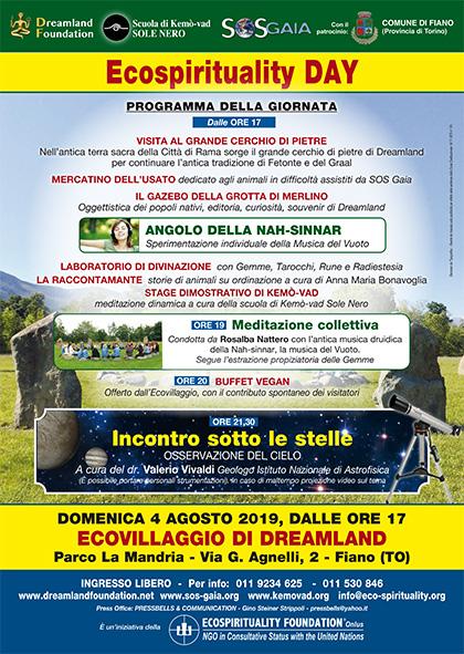 4 agosto 2019 ore 17 - Ecovillaggio di Dreamland - Ecospirituality Day