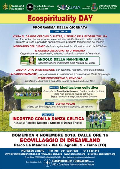 4 novembre 2018 ore 16 - Ecovillaggio di Dreamland - Ecospirituality Day