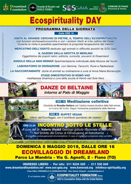 5 maggio 2019 ore 16 - Ecovillaggio di Dreamland - Ecospirituality Day