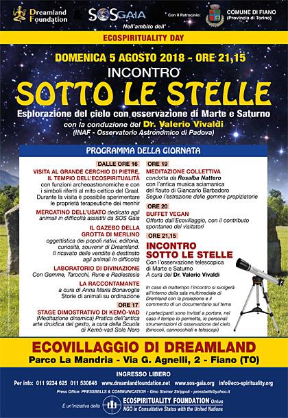 5 agosto 2018 ore 16 - Ecovillaggio di Dreamland - Ecospirituality Day