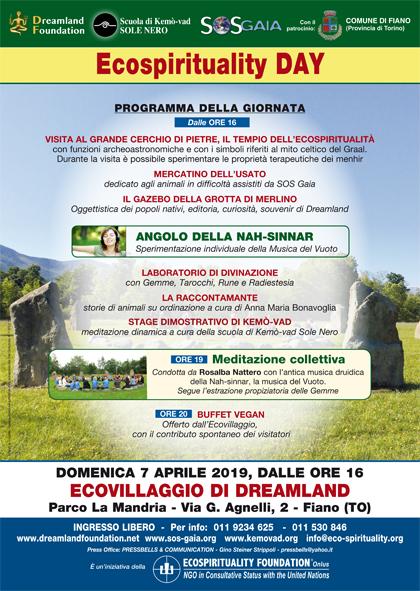 7 aprile 2019 ore 16 - Ecovillaggio di Dreamland - Ecospirituality Day
