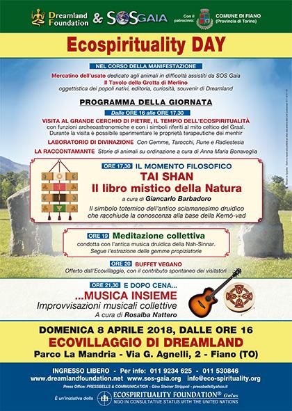 8 aprile 2018 ore 16 - Ecovillaggio di Dreamland - Ecospirituality Day