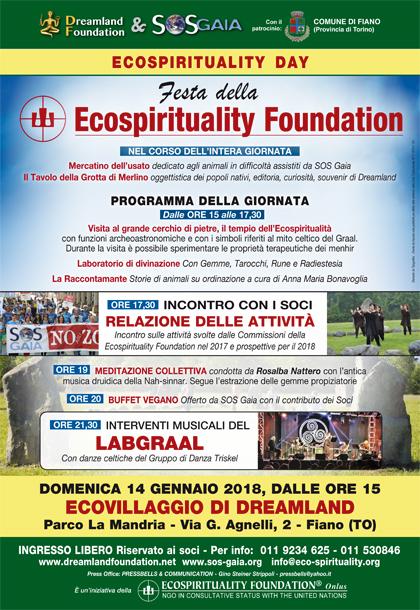 14 gennaio 2018 - Ecovillaggio di Dreamland - Ecospirituality Day