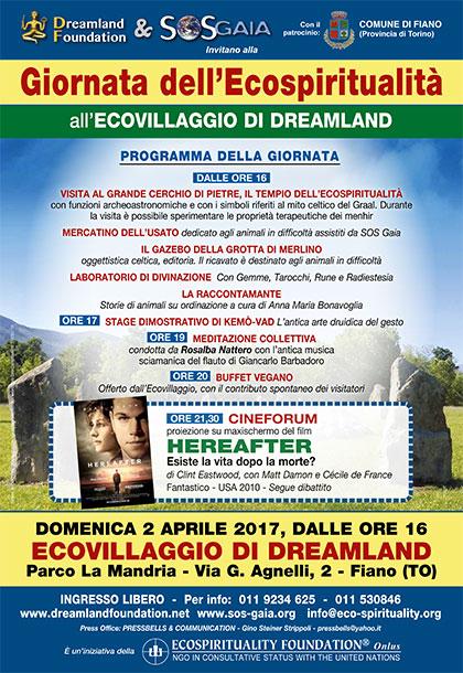 2 aprile 2017 - Ecovillaggio di Dreamland - Giornata dell'Ecospiritualità