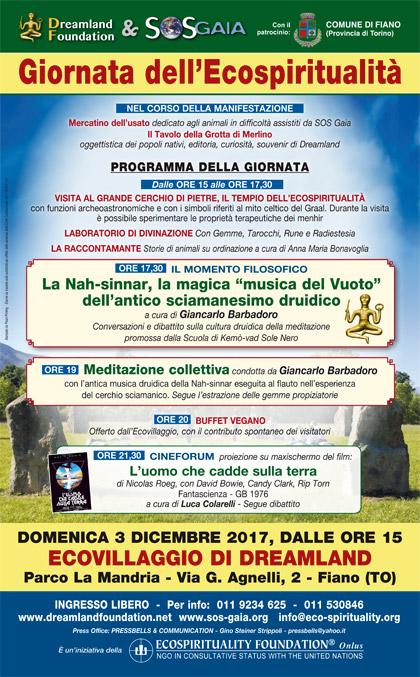 3 dicembre 2017 - Ecovillaggio di Dreamland - Giornata dell'Ecospiritualità
