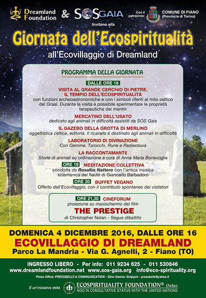 4 dicembre 2016 - Ecovillaggio di Dreamland - Giornata dell'Ecospiritualità