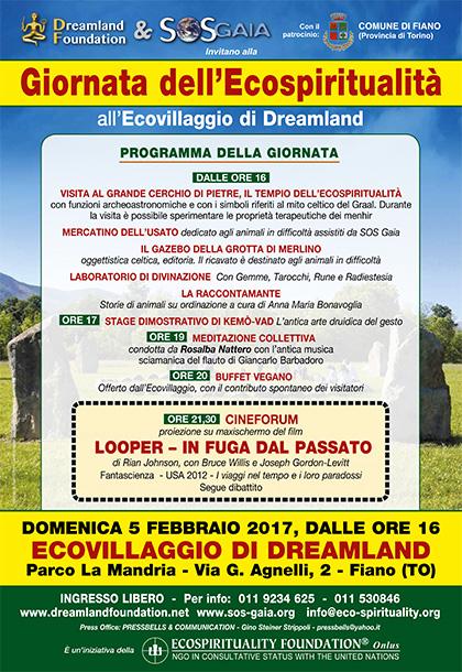 5 febbraio 2017 - Ecovillaggio di Dreamland - Giornata dell'Ecospiritualità