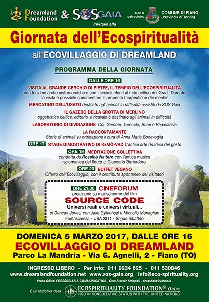 5 marzo 2017 - Ecovillaggio di Dreamland - Giornata dell'Ecospiritualità