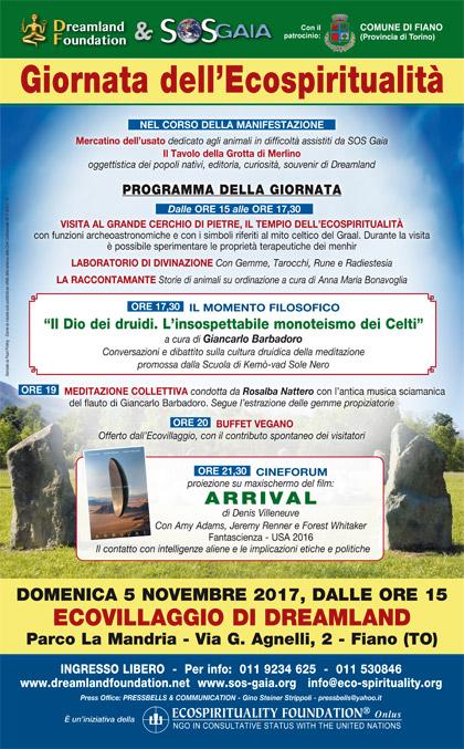 5 novembre 2017 - Ecovillaggio di Dreamland - Giornata dell'Ecospiritualità