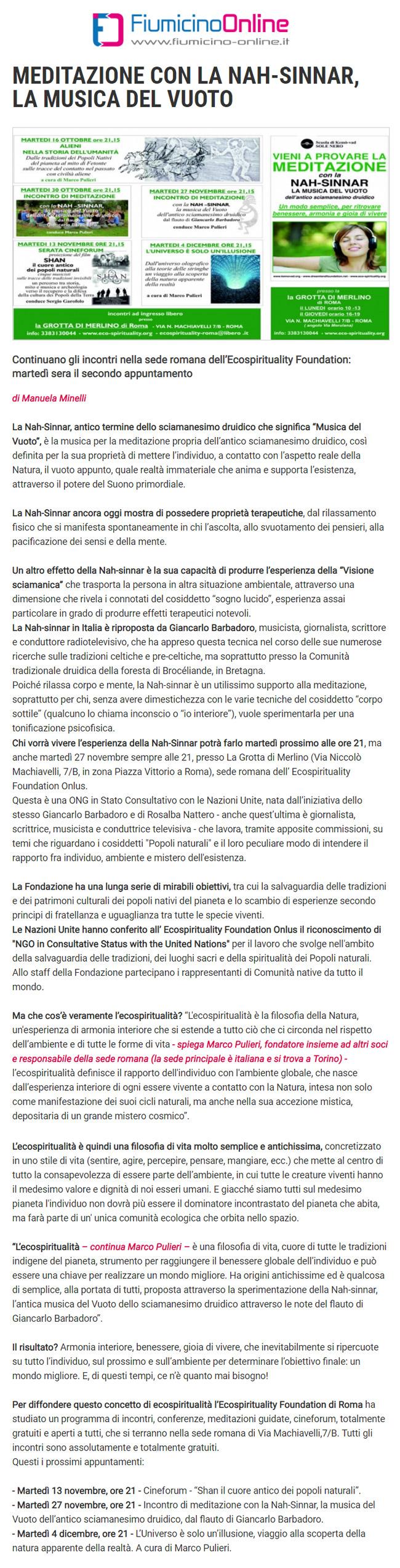 fiumicino-online-MEDITAZIONE CON LA NAH-SINNAR, LA MUSICA DEL VUOTO