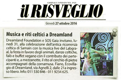 Ecovillaggio Dreamland Samain 2016